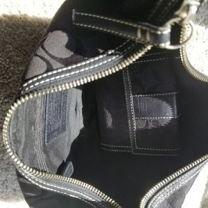 Real Coach small hobo handbag with matching wallet